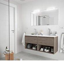 CAESAROO Meuble de salle de bain suspendu 120 cm