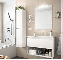 CAESAROO Meuble de salle de bain suspendu 60 cm