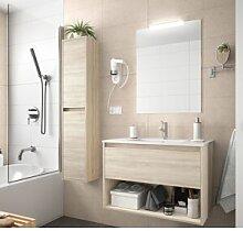 CAESAROO Meuble de salle de bain suspendu 80 cm