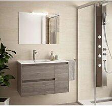 CAESAROO Meuble de salle de bain suspendu 85 cm