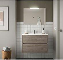 CAESAROO Meuble de salle de bain suspendu 90 cm