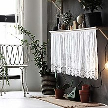 Cafe Curtains Demi Rideau Blanc Pur Coton Rideau