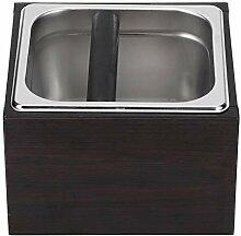 Café Knock Box, détachable en acier inoxydable