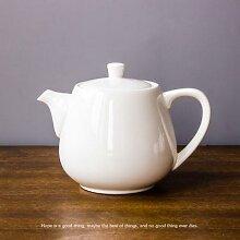 Cafetière en céramique blanche créative, 3