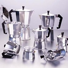 Cafetière Moka expresso en aluminium,