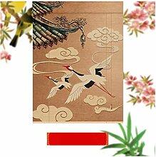 CAIJUN Impression De Rideau En Bambou, Stores À