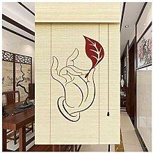 CAIJUN Rideau De Bambou Imprimé, 60%
