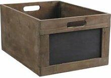 Caisse de rangement en bois avec ardoise 35x23x…