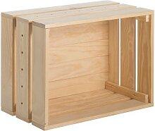 Caisse de rangement Home Box pin massif- 51.2 x