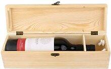 Caisse de transport de boîte à vin en bois
