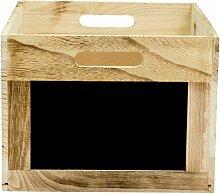 Caisse en bois avec ardoise pour protège-menus -