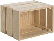 Caisse en pin massif modulable home box moyenne