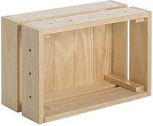 Caisse en pin massif modulable home box petite