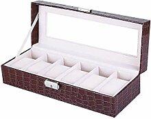 Caisses De Rangement Montre En Cuir Box,