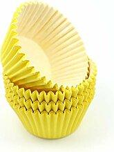 Caissette Muffin Cupcake Jaune Haut Qualité x48