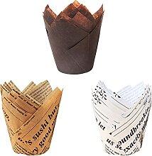 Caissettes Cupcake,Papier Muffin de Cuisine,Moulle