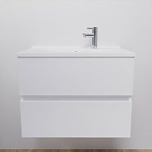 Caisson simple vasque 70 - Blanc brillant - Rosaly