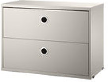 Caisson String® System / 2 tiroirs - L 58 x P 30