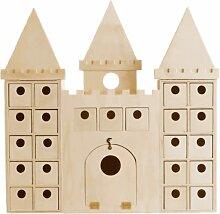 Calendrier de l'Avent château en bois à