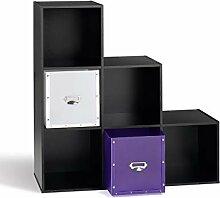 CaliCosy Etagère de Rangement avec 6 Cases en