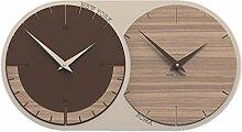 CalleaDesign 73 cm Horloge Murale avec 2 fuseaux