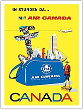Canada - Air Canada (TCA) - Affiche Avion de