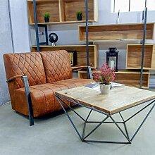 Canapé 2 places de style industriel et vintage