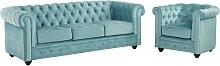 Canapé 3 places et fauteuil CHESTERFIELD -