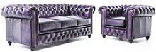 Canapé 3 places et fauteuil en cuir orginal