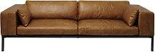 Canapé 4 places en cuir camel