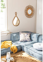 Canapé Angle Modulable Dhel Bleu Vintage Sklum