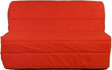 Canapé BZ COWBOY 100% coton - Rouge corail