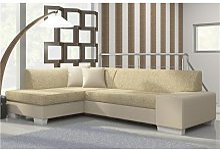 Canapé d'angle convertible beige LUIZ 5