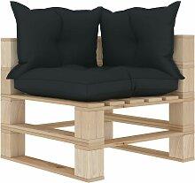 Canapé d'angle palette de jardin avec