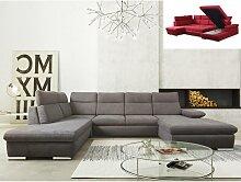Canapé d'angle panoramique convertible en