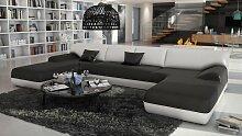 Canapé d'angle panoramique design en cuir -