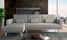 Canapé d angle convertible scandinave : Marron