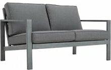Canapé de jardin 2 places en aluminium et
