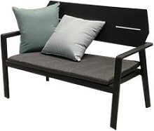 Canapé de jardin 2 places en aluminium gris