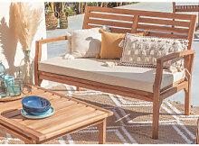 Canapé de jardin 2 places en bois de teck Adira