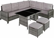 Canapé de jardin BARLETTA modulable - table de