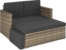 Canapé de jardin CORFOU modulable - table de