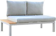 Canapé de jardin en aluminium avec table