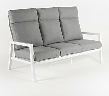 Canapé de jardin en aluminium renforcé de