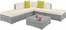 Canapé de jardin PARIS modulable 5 places - table