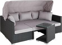 Canapé de jardin SAINT MARIN modulable - table de