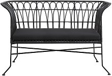 Canapé de jardin tendance métal noir