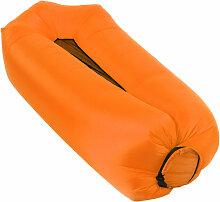 Canape Gonflable, Pour Le Camping, Orange