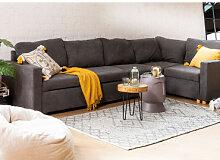 Canapé-lit d'angle 4 places Anders en tissu