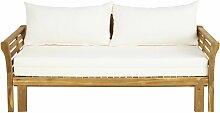 Canapé-lit de jardin 2/3 places en acacia massif